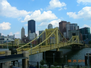 Pittsburgh from PNC Park open deck during our pre-planning visit in June  CLICK PIX TO ENLARGE